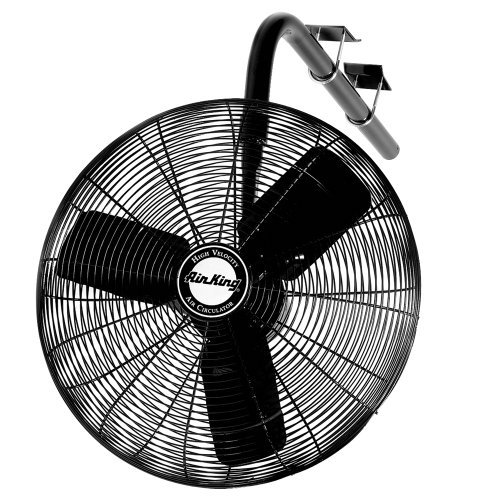 Air King 9674 24-Inch 1/3-Horsepower Industrial Grade Oscillating I-Beam Mount Fan with 5,770-CFM, Black ()