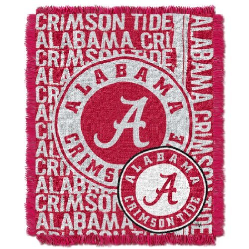 NCAA Alabama Crimson Tide Double Play 46-inch by 60-inch Jacquard Triple Woven Throw by Northwest