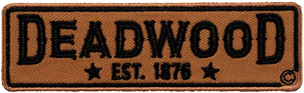 Deadwood Est 1876 Brown /& Black 2 Star Travel Patch X-Small Size