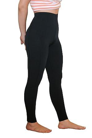 556e984c331b3 Women Swim Tights High Waist Full Leggings UV Protective Clothing UPF50+  Black (XS)