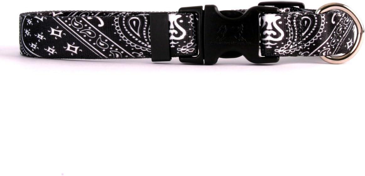 Bandana Blue Yellow Dog Design Standard Easy-Snap Collar