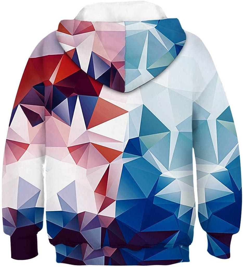 Moonker Unisex Baby Hoodie Sweatshirt Tops Long Sleeve Galaxy Fleece Print Cartoon Pullover