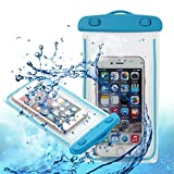 Universal Waterproof Case, Pandawell™ Cell Phone Dry Bag Waterproof Bag for Apple iPhone 6S / 6 / 6S Plus, 5S,iPhone SE, Samsung Galaxy S7, S7 Edge, Note 5, LG G5,HTC 10 - Blue