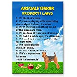 Airedale Terrier Property Laws Fridge Magnet Funny