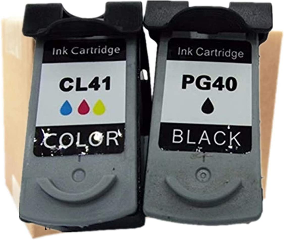 1 Tri-Color No-name Remanufactured Ink Cartridges Replacement for Canon PG-40 PG 40 PG40 CL-41 CL41 CL 41 Pixma iP2580 iP1980 iP2680 MP145 MP150 MP160 MP170 Inkjet Printer