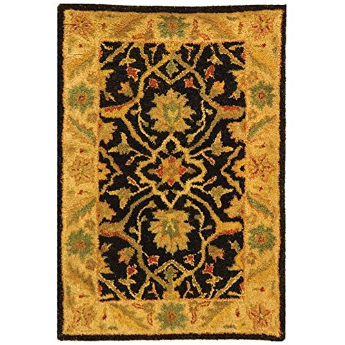 Safavieh Antiquities Collection AT14B Handmade Traditional Oriental Black Wool Area Rug (2' x 3')