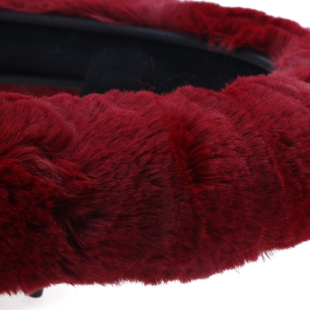 Ahomi auto inverno caldo peluche morbido elastico coprivolante
