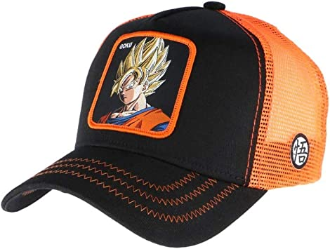 Collabs Gorra Dragon Ball Z Goku Trucker Negro (Talla única para ...
