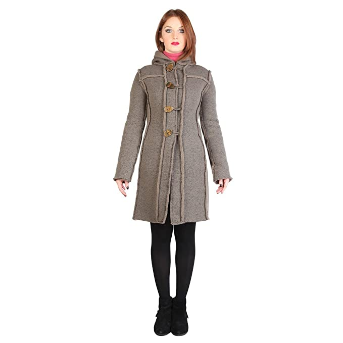Fontana Cappotto Lana Marta Nocciola IT 40: Amazon.it
