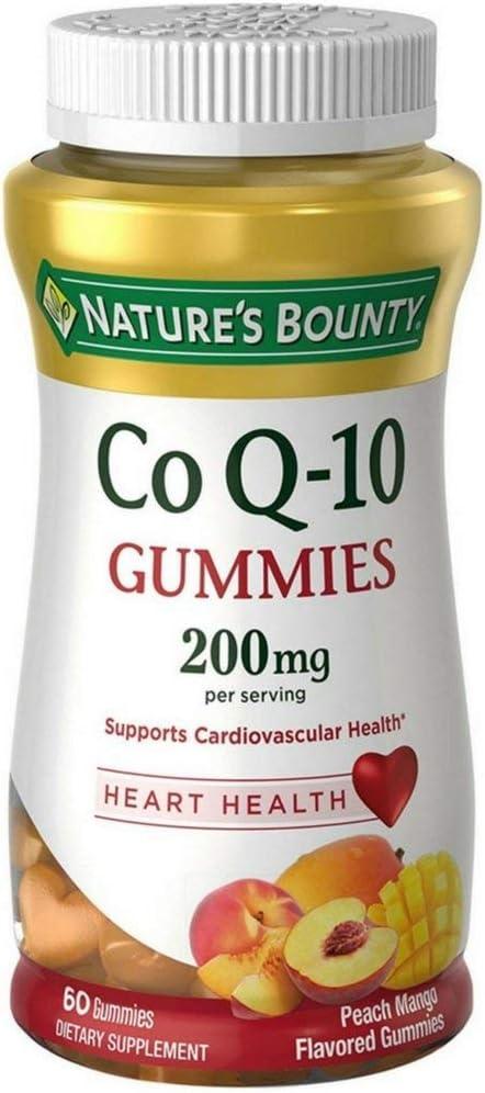 Nature's Bounty CoQ-10 Gummies 200 mg, Peach Mango Flavored 60 ea (Pack of 5)