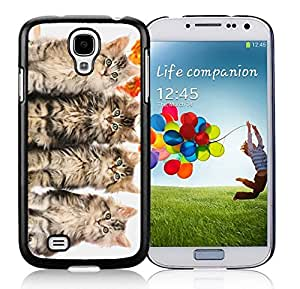 Special Custom Made Four Christmas Cats Black TPU Protective Skin For Samsung I9500,Samsung Galaxy S4 by Maris's Diary