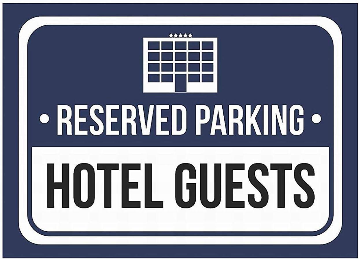 Reserved Parking Hotel Guests /Étain Mur Signe Vintage M/étal Signes Davertissement De Fer Art Plaque Affiche Suspendue Celebrity Cour Jardin Caf/é Bar Pub Cadeau