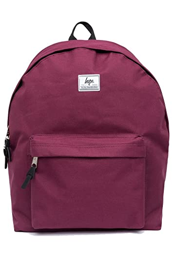 Hype Woven Tab Burgundy Backpack Rucksack Bag - Ideal School Bags - Rucksack  For Boys and Girls  Amazon.co.uk  Shoes   Bags e27a2b228dfc6