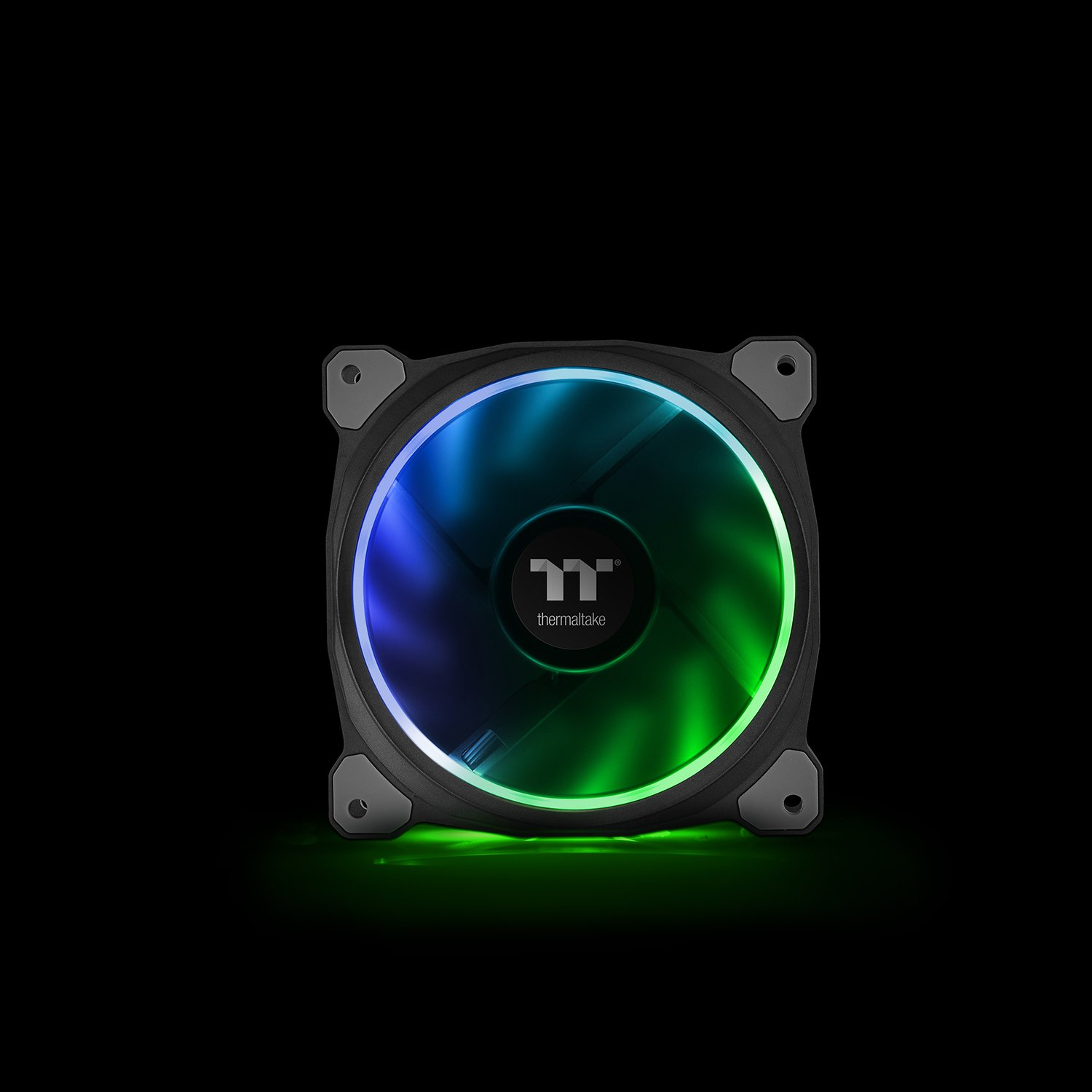 Thermaltake CL-F054-PL12SW-A Riing Plus 12 RGB TT Premium Edition 120mm Software Enabled Circular 12 Controllable Led Ring Case//Radiator Fan