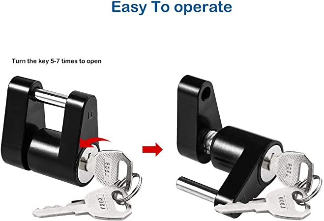 LeonBach 16 Pcs 2.76 7cm Square Shaft Locking Pin Trailer Hitch Pin and Clip Hitch Coupler Lock Set Lock Pin Set Wire Lock Pin