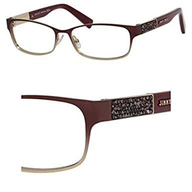 6e2df98fa154 Image Unavailable. Image not available for. Color  Jimmy Choo Jimmy Choo 124  0VUS Semi Matte Red Eyeglasses