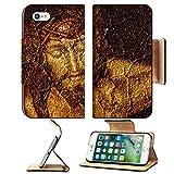 Liili Premium Apple iPhone 7 Flip Pu Leather Wallet Case figure of Jesus Christ on vintage background Photo 6636766 Simple Snap Carrying