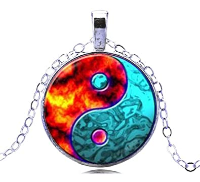 2fc11f717322 2018 New Fashion Water And Fire Necklace Antique Design Yin Yang ...