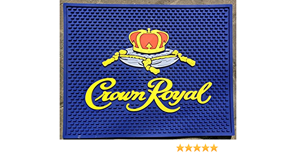 CROWN ROYAL BLACK CANADIAN WHISKY  SET OF 6  BAR TOP SPILL MAT COASTERS NEW