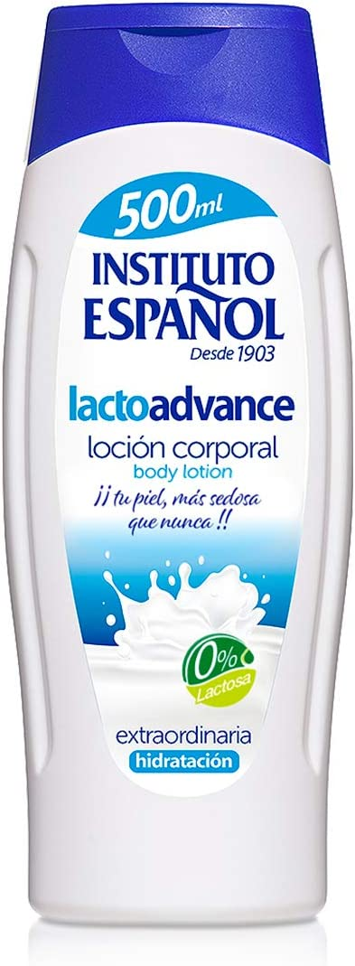 Instituto Español Loción Corporal Hidratante Lactoadvance Leche y Proteinas - Sin Lactosa - 500 ML