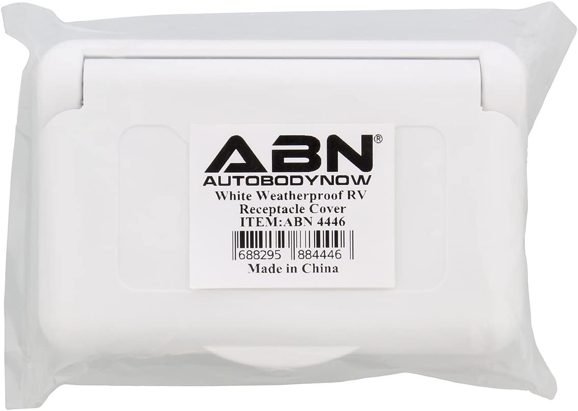 ABN Weatherproof Receptacle Cover in White Outdoor Replacement Electrical Plug Outlet Cover for RV Camper Socket