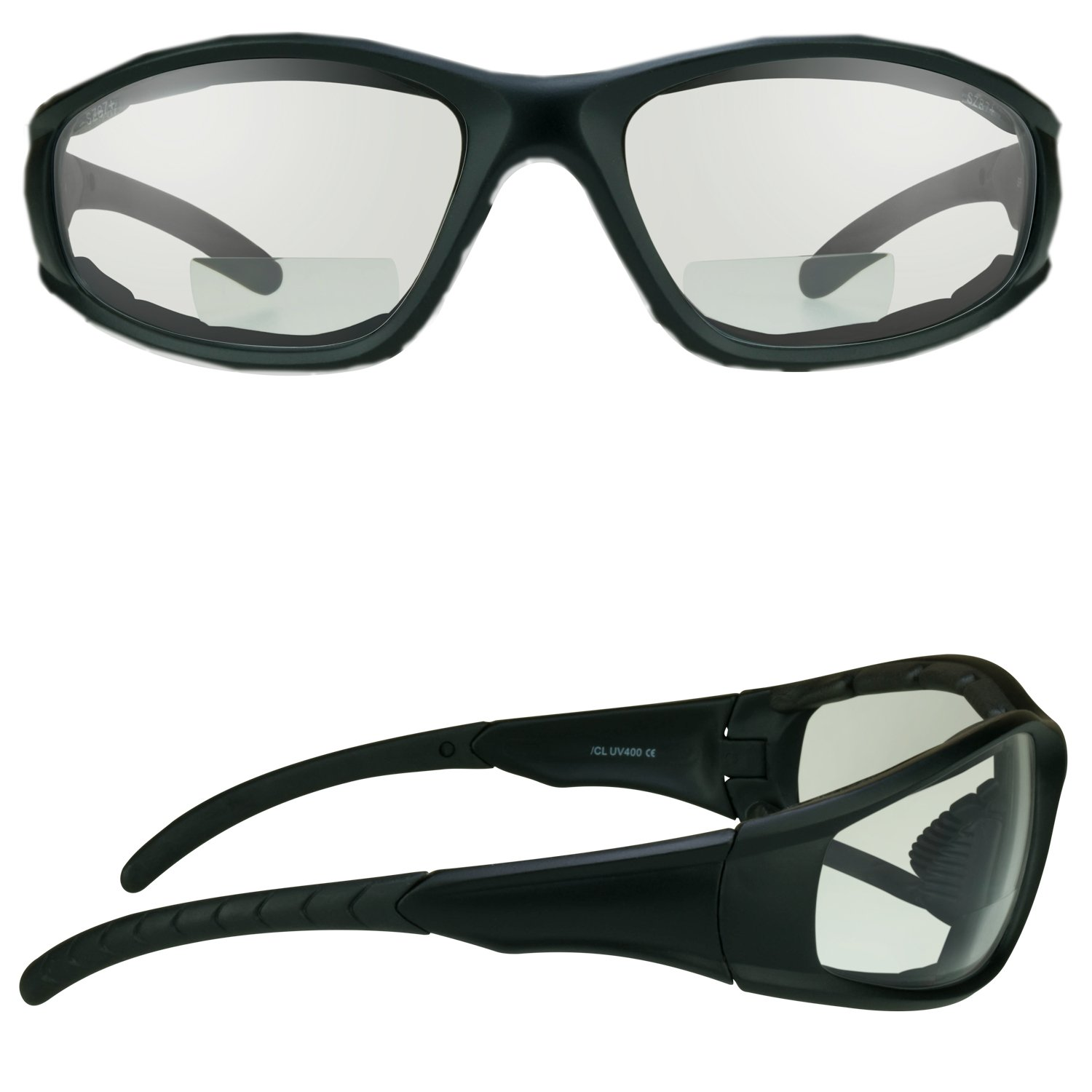 Z87.1 Motorcycle Riding Bifocal Safety Glasses 1.50 Foam Padded