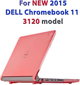 "iPearl mCover Hard Shell Case for 11.6"" Dell Chromebook 11 3120 Series Released After Feb. 2015 with 180 Degree LCD Hinge (NOT Compatible with Dell C11 210-ACDU, 3180, 3189 Series) (Red)"