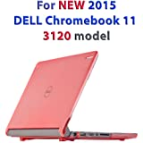 """iPearl mCover Hard Shell Case for 11.6"""" Dell Chromebook 11 3120 Series Released After Feb. 2015 with 180 Degree LCD Hinge (NOT Compatible with Dell C11 210-ACDU, 3180, 3189 Series) (Red)"""