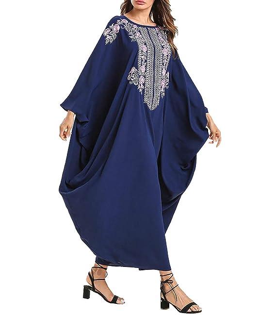 zhbotaolang Vestidos Arabe de Kaftan Mujer - Ropa Musulmana Traje Maxi Abrigo Abaya Dubai Caftan Islamico