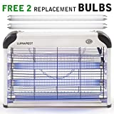 LumaPest Bug Zapper & Indoor Electric Insect Killer: Powerful 2800V 20W Bulbs Protection Against Flies - Mosquitoes Pests | Covers 6,000 Sq. Ft. | Free 2-Pack Replacement Bulbs Included