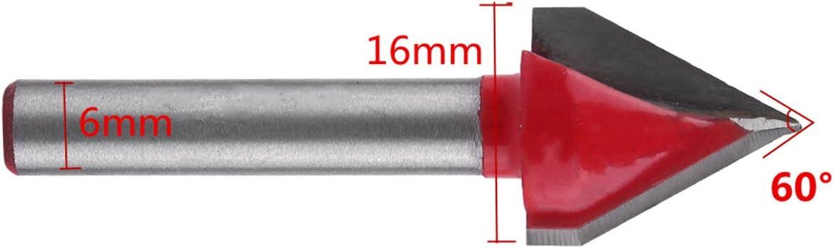 60/gradi 3d incisione CNC forte V Groove fresa in Bout strumento di taglio di legno 6/mm Shank 60/gradi