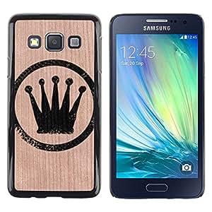 - King Sign Crown Tag Bling Fancy - - Funda Delgada Cubierta Case Cover de Madera FOR Samsung Galaxy A3 a3000 BullDog Case
