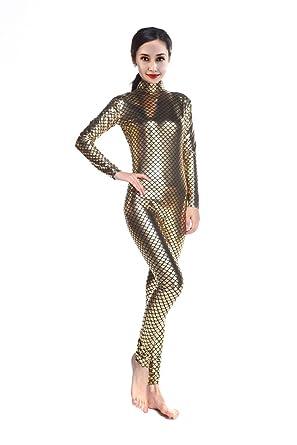 fa1f8d487b5 Amazon.com  Sheface Metallic Fish Scale Mermaid Catsuit Costumes ...