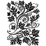 Embossing Folder Fall Leaf Background 4.25 X 5.75 Inches (12 Pack)