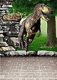 GladsBuy Dinosaur World 5' x 7' Digital Printed Photography Backdrop KA Series Background KA209
