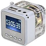 Andoer Mini USB Altavoz Digital Portátil para Reproductor MP3 / 4 Música Jugador Micro SD / TF Plata