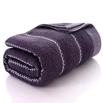 SYXLTSH Toalla de baño algodón Adulto Conjunto Suave Absorbente Pareja Hotel baño, Negro A: Amazon.es: Hogar