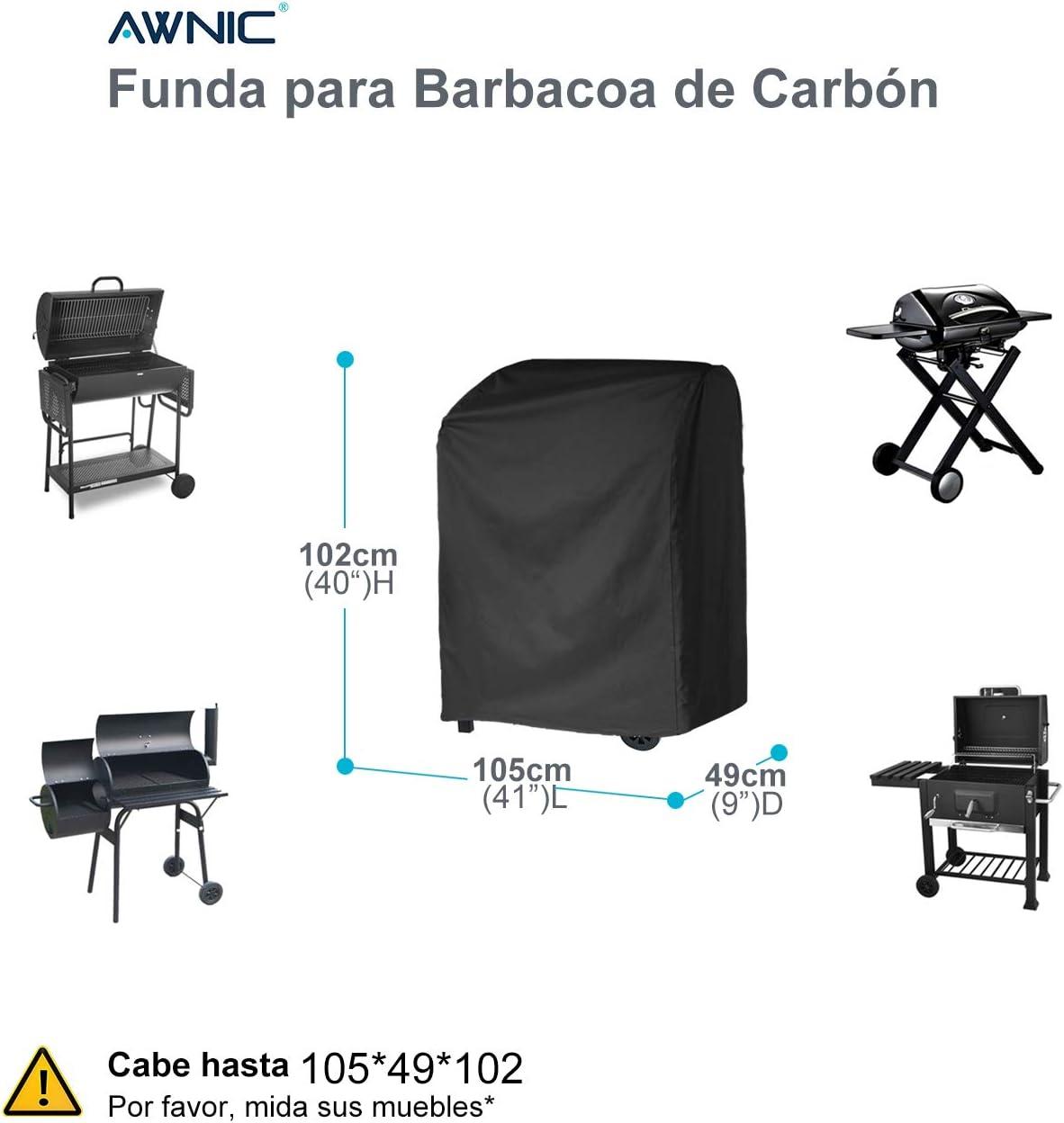 Doitsa 1/x Funda Barbacoa Impermeable Outdoor Lona de protecci/ón BBQ con Cuerda retr/áctil Negro Impermeable 145 * 61 * 117CM Antipolvo