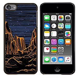 LECELL--Funda protectora / Cubierta / Piel For Apple iPod Touch 6 6th Touch6 -- Grand Desert Noche Pintura Naranja --