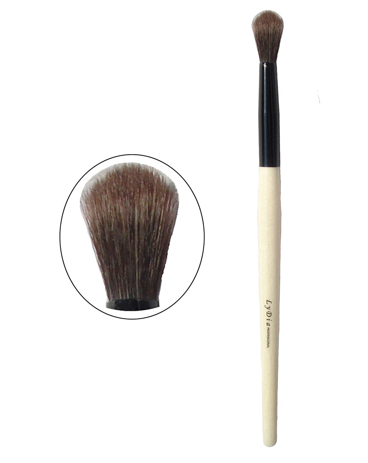 LyDia® Professional Eco-Friendly Natural Wooden Handle Face Powder Angled Blush Contour Foundation Concealer Eye Shadow Brow Define Blending Makeup Brush (Wooden Mascara Eyebrow Brush) LyDia Beauty