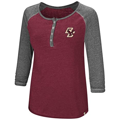 0dade6a4 Amazon.com: Womens Boston College Eagles Henley 3/4 Long Sleeve Tee ...