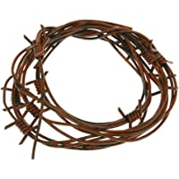 D DOLITY Rusty Brown Fake Barb Wire Cord Haunted House Halloween Horror Party Decor