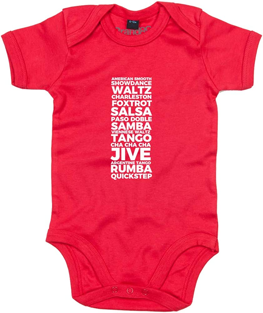 Printed Baby Grow Red//White 6-12 Months Love Every Dance