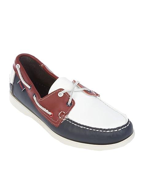Sebago - Mocasines para Hombre Blanco/Azul IT - Marke Größe, Color, Talla 45 IT - Marke Größe 45: Amazon.es: Zapatos y complementos