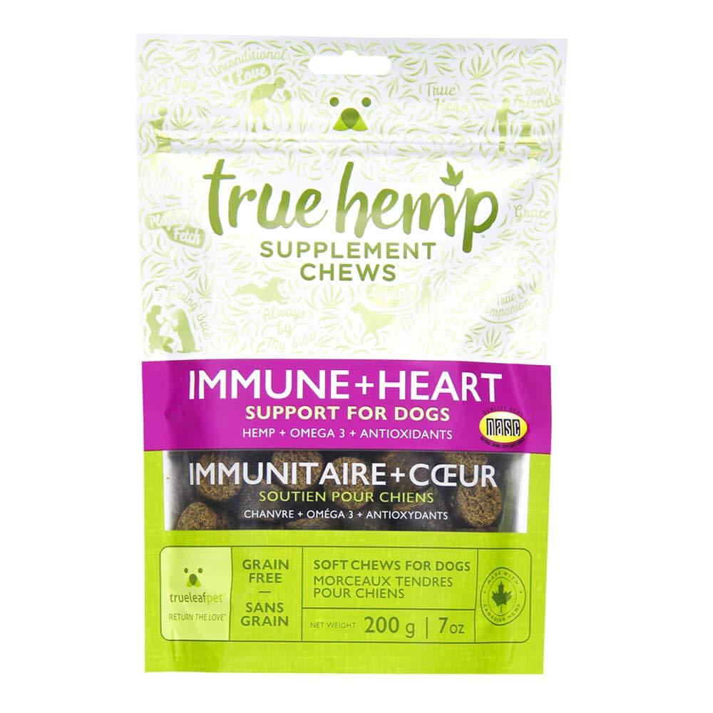 True Hemp Chews Immune + Heart Support for Dogs, 7 oz, 40 ct