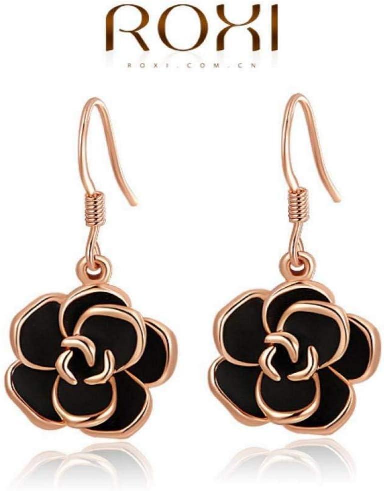 18K Rose Gold Filled Drop Earrings Drop Earrings Rose Earrings Party Earrings Statement Earrings