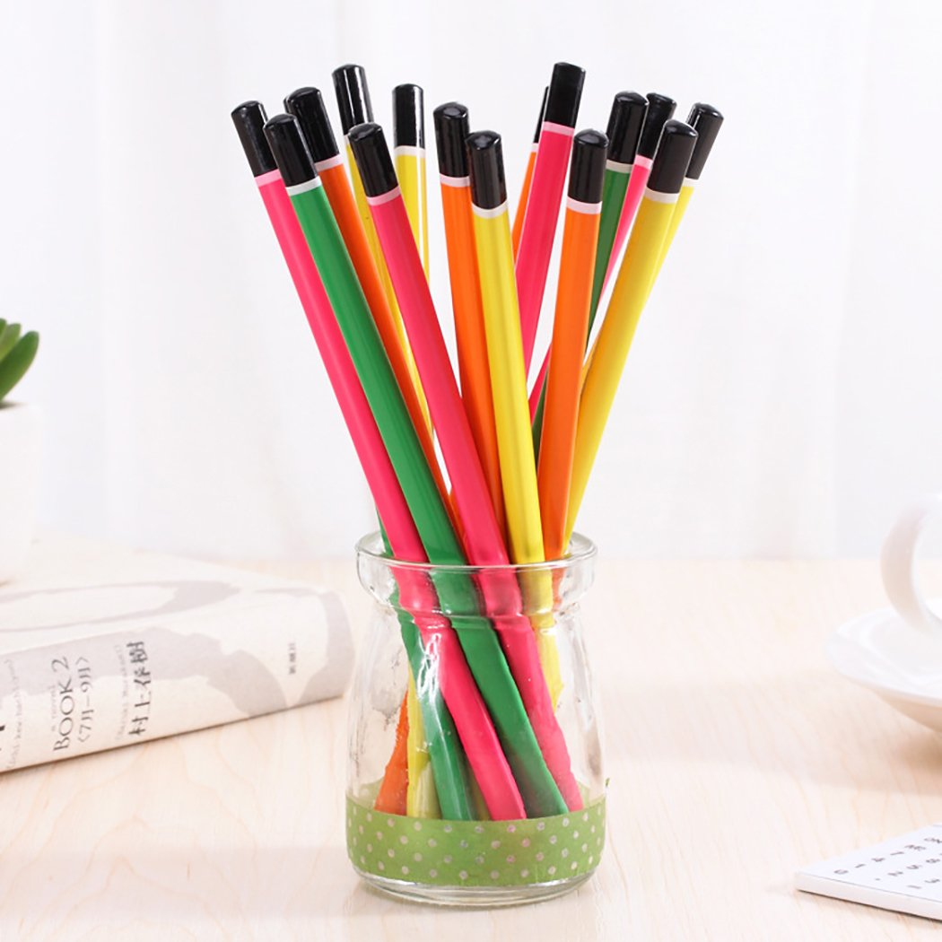 Funpa 50PCS Wood Pencil Colorful Pencil Sketch Pencil Wood Drawing Pencil for Primary Student by Funpa (Image #5)