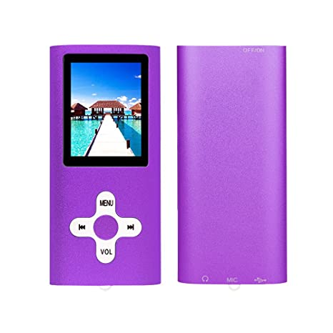 RHDTShop MP3 MP4 Player with a 16 GB Micro SD Card, Support UP to 64GB TF Card, Rechargeable Battery, Portable Digital Music Player/Video/E-Book ...