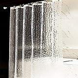 OTraki EVA Shower Curtain 47x72 Non Toxic Shower Liner Mildew Resistant Anti Bacterial Semi Transparent Heavy Duty 3D Bath Curtains for Bathtub and Stall 120 x 180 cm