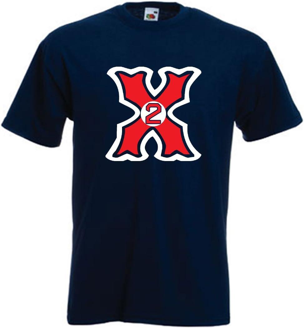 """Silo Shirts NAVY Xander Bogaerts Boston """"X MAN"""" T-Shirt"""